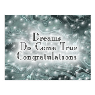 Dreams Do Come True Congratulations Postcard