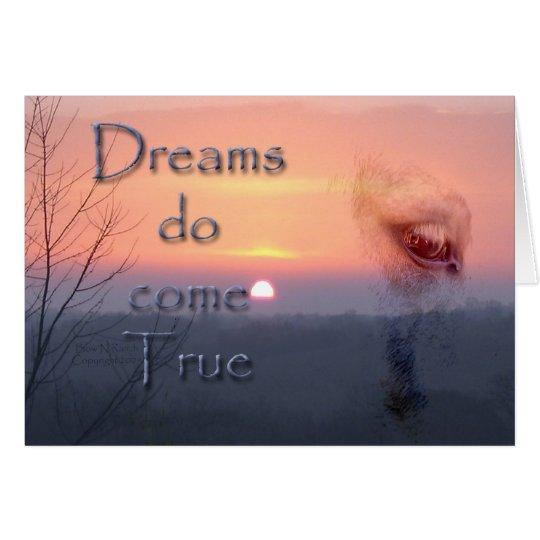 Dreams do come true Palomino horse and sunrise Card