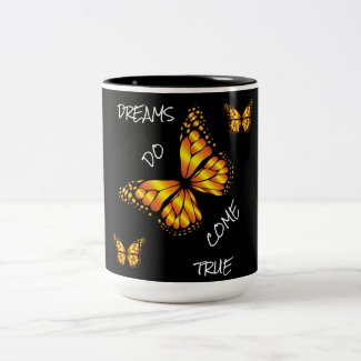 DREAMS DO COME TRUE Two-Tone COFFEE MUG
