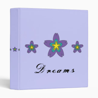 Dreams flowers customizable Binder
