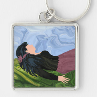 Dreams from a Bed of Grass Keychain