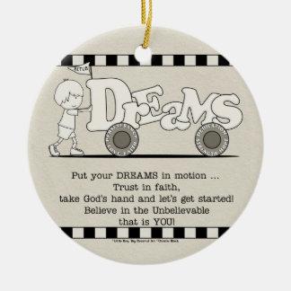 Dreams in Motion Ceramic Ornament