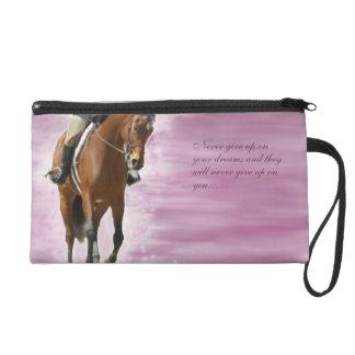 Dreams- Inspirational quote for Equestrians bag Wristlet