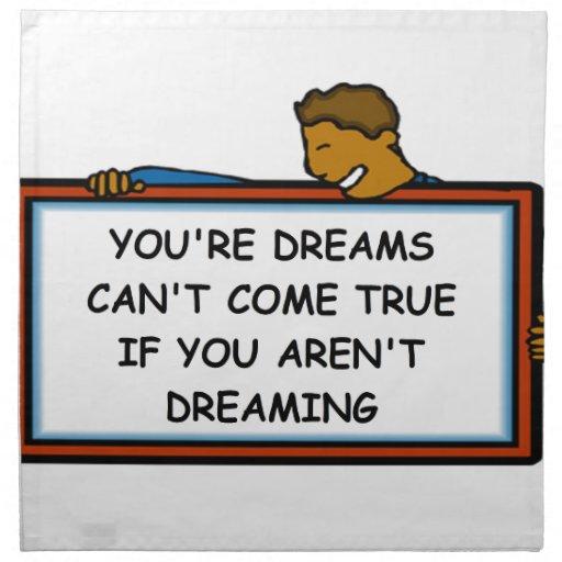 dreams napkin