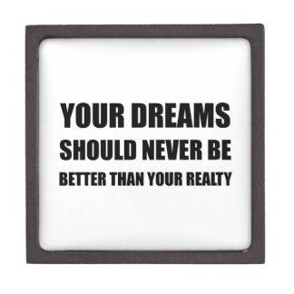 Dreams Never Better Than Reality Keepsake Box