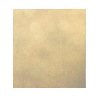 dreams of gold notepad