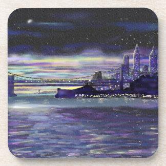 Dreams of new York City at Night coasters