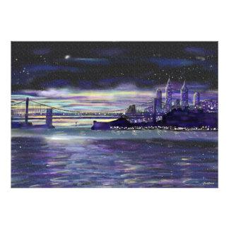 Dreams of New York City at Night notebook Photo Print