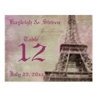 Dreams of Paris Table Number Postcard