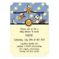 Dreams of Space Mobile Baby Shower Invitation