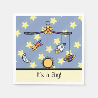 Dreams of Space Mobile Baby Shower Napkins