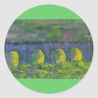 Dreams of Waterloo Bridge Classic Round Sticker