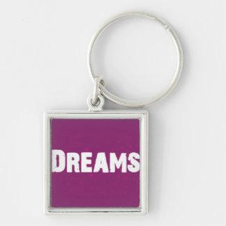 Dreams on Purple Keychain