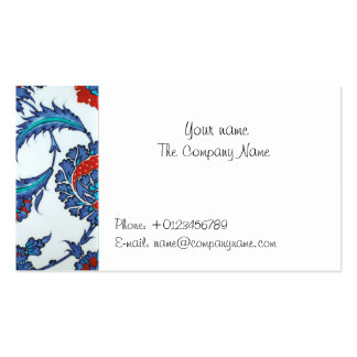 dreams oriental iznik pattern business card