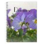 Dreams Pansies Notebook