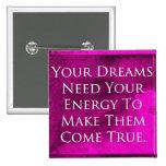 Dreams Quote Elegant Purple Background Pins