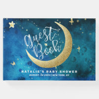 Dreams Really Do Come True Moon Stars Baby Shower Guest Book