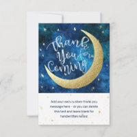 Dreams Really Do Come True Moon Stars Baby Shower Thank You Card
