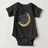 Dreams Really Do Come True Moon & Stars New Baby Baby Bodysuit