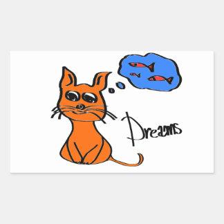 Dreams Rectangular Sticker