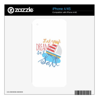 Dreams Sail Decals For iPhone 4