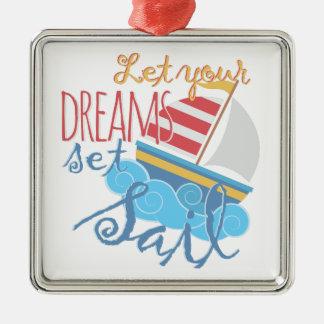 Dreams Sail Metal Ornament