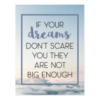 Dreams Scare You Quote Postcard