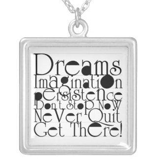 Dreams Square Pendant Necklace