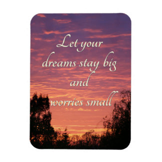 Dreams stay big rectangle magnet