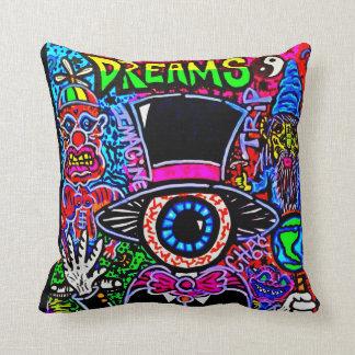 """DREAMS"" THROW PILLOW by CUSTOM CHAOS!"