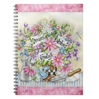 Dreams Wishes And Creativity Spiral Notebook