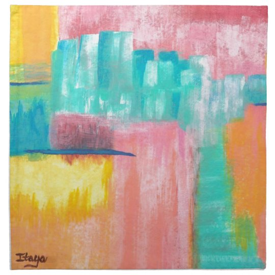 Dreamscape Abstract Art Original Painting Napkin