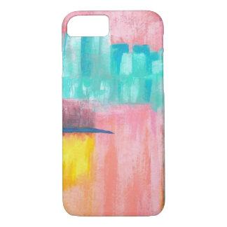 Dreamscape Abstract Art Pink Orange Aqua Painting iPhone 7 Case