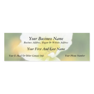 Dreamscape - Iceland Poppy Double-Sided Mini Business Cards (Pack Of 20)