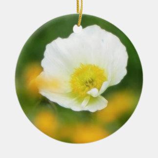 Dreamscape - Iceland Poppy Ceramic Ornament