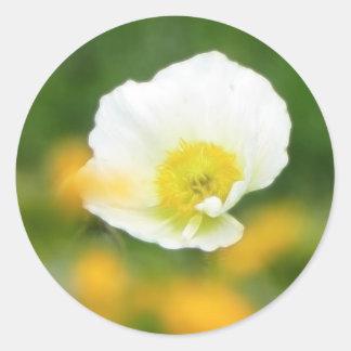 Dreamscape - Iceland Poppy Classic Round Sticker