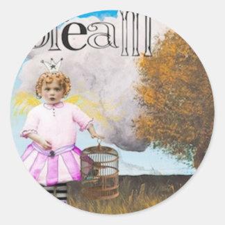 dreamstosell.jpg classic round sticker