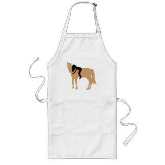 Dreamteam - A girl and her beloved horse Long Apron