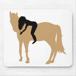 Dreamteam - A girl and her beloved horse Mouse Pad