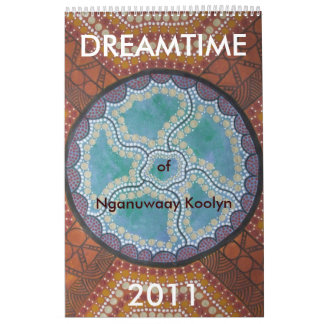 Dreamtime del calendario 2011 de Nganuwaay Koolyn