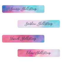 Dreamy Abstract Pastels Name In Calligraphy Labels