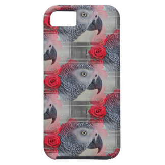 Dreamy African Grey with Red Roses iPhone SE/5/5s Case