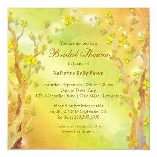 Dreamy Autumn Trees Bridal Shower Card
