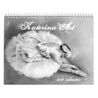 Dreamy Ballerinas 2014 Calendar KaterinaArt