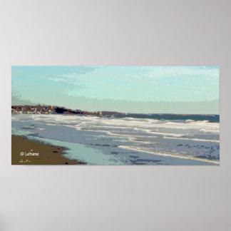 Dreamy Beach Waves Poster