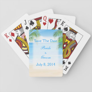 Dreamy Beach Wedding Save The Date Poker Cards