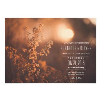 Dreamy Beautiful Flowers   Sun   Wedding 5x7 Paper Invitation Card