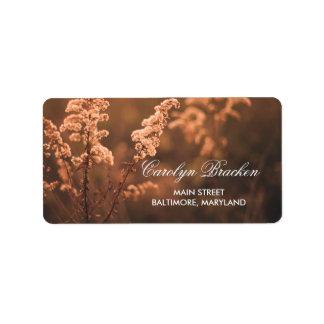 Dreamy Beautiful Flowers | Sun | Wedding Personalized Address Labels
