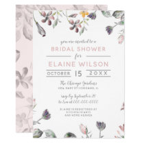 dreamy blooms blush floral bridal shower card