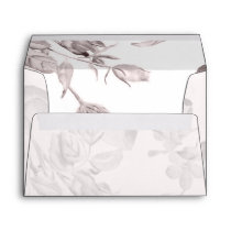 dreamy blooms blush Floral Spring Wedding Envelope